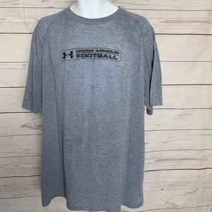 Under Armour UA Football Tee Raglan Sleeve Gray